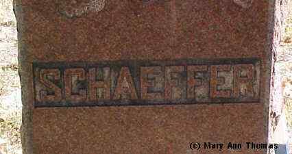 SHAEFFER, MONUMENT STONE - Fremont County, Colorado | MONUMENT STONE SHAEFFER - Colorado Gravestone Photos
