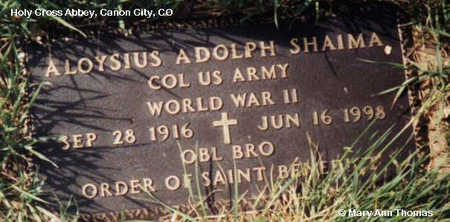 SHAIMA, ALOYSIUS ADOLPH - Fremont County, Colorado   ALOYSIUS ADOLPH SHAIMA - Colorado Gravestone Photos