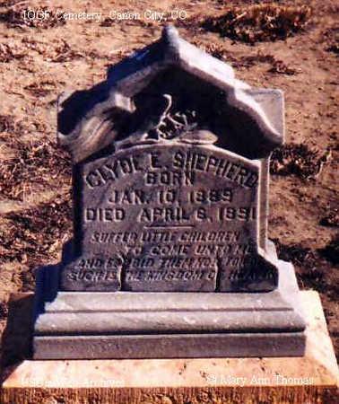 SHEPHERD, CLYDE E. - Fremont County, Colorado | CLYDE E. SHEPHERD - Colorado Gravestone Photos