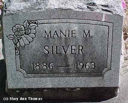 SILVER, MANIE M. - Fremont County, Colorado | MANIE M. SILVER - Colorado Gravestone Photos