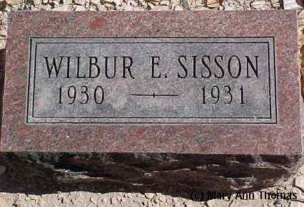 SISSON, WILBUR E. - Fremont County, Colorado | WILBUR E. SISSON - Colorado Gravestone Photos