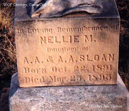 SLOAN, NELLIE M. - Fremont County, Colorado | NELLIE M. SLOAN - Colorado Gravestone Photos
