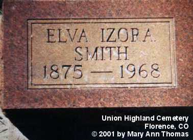 SMITH, ELVA IZORA - Fremont County, Colorado | ELVA IZORA SMITH - Colorado Gravestone Photos