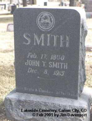 SMITH, JOHN T. - Fremont County, Colorado | JOHN T. SMITH - Colorado Gravestone Photos