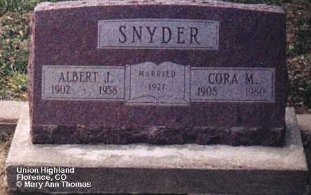 SNYDER, ALBERT J. - Fremont County, Colorado | ALBERT J. SNYDER - Colorado Gravestone Photos