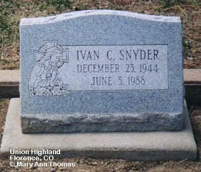 SNYDER, IVAN C. - Fremont County, Colorado | IVAN C. SNYDER - Colorado Gravestone Photos