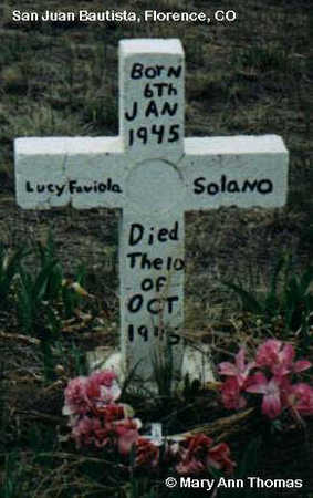 SOLANO, LUCY FAVIOLA - Fremont County, Colorado   LUCY FAVIOLA SOLANO - Colorado Gravestone Photos