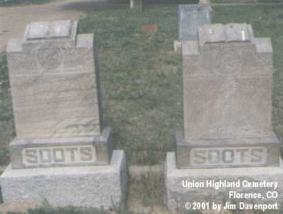SOOTS, MARION N. - Fremont County, Colorado | MARION N. SOOTS - Colorado Gravestone Photos