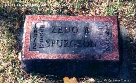 SPURGEON, ZENO BUTLER - Fremont County, Colorado   ZENO BUTLER SPURGEON - Colorado Gravestone Photos