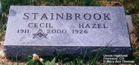 STAINBROOK, CECIL - Fremont County, Colorado | CECIL STAINBROOK - Colorado Gravestone Photos