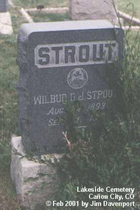 STROUT, WILBUR D. J. - Fremont County, Colorado | WILBUR D. J. STROUT - Colorado Gravestone Photos