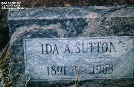 SUTTON, IDA A. - Fremont County, Colorado | IDA A. SUTTON - Colorado Gravestone Photos