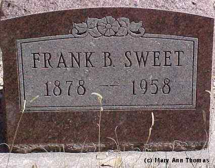 SWEET, FRANK B. - Fremont County, Colorado   FRANK B. SWEET - Colorado Gravestone Photos