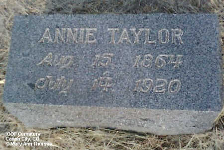 TAYLOR, ANNIE - Fremont County, Colorado | ANNIE TAYLOR - Colorado Gravestone Photos