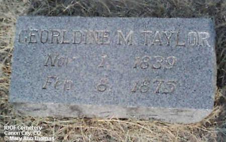 TAYLOR, GEORLDINE M. - Fremont County, Colorado   GEORLDINE M. TAYLOR - Colorado Gravestone Photos