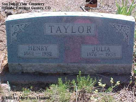TAYLOR, JULIA - Fremont County, Colorado | JULIA TAYLOR - Colorado Gravestone Photos