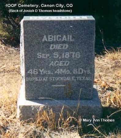 THOMAS, ABIGAIL - Fremont County, Colorado   ABIGAIL THOMAS - Colorado Gravestone Photos