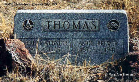 THOMAS, EVERETT WEBSTER - Fremont County, Colorado | EVERETT WEBSTER THOMAS - Colorado Gravestone Photos
