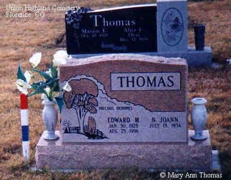 THOMAS, EDWARD M. - Fremont County, Colorado | EDWARD M. THOMAS - Colorado Gravestone Photos