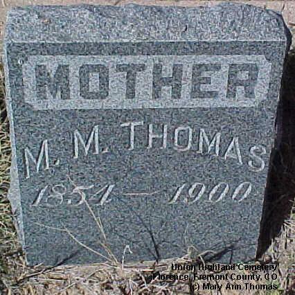 THOMAS, M.M. - Fremont County, Colorado | M.M. THOMAS - Colorado Gravestone Photos