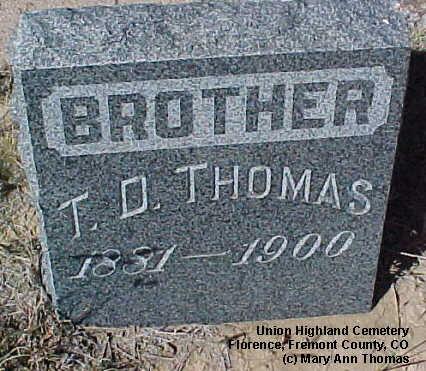THOMAS, T. D. - Fremont County, Colorado | T. D. THOMAS - Colorado Gravestone Photos