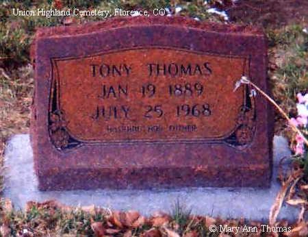 THOMAS, TONY - Fremont County, Colorado | TONY THOMAS - Colorado Gravestone Photos