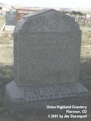 THORNHILL, HENRY CLINTON - Fremont County, Colorado | HENRY CLINTON THORNHILL - Colorado Gravestone Photos