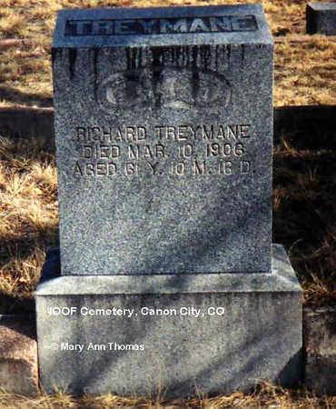 TREYMANE, RICHARD - Fremont County, Colorado | RICHARD TREYMANE - Colorado Gravestone Photos