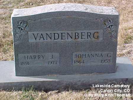VANDENBERGH, JOHANNA C. - Fremont County, Colorado | JOHANNA C. VANDENBERGH - Colorado Gravestone Photos