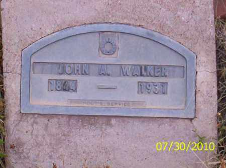 WALKER, JOHN A - Fremont County, Colorado | JOHN A WALKER - Colorado Gravestone Photos