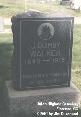 WALKER, J. QUIMBY - Fremont County, Colorado | J. QUIMBY WALKER - Colorado Gravestone Photos