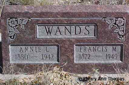 WANDS, FRANCIS M. - Fremont County, Colorado | FRANCIS M. WANDS - Colorado Gravestone Photos