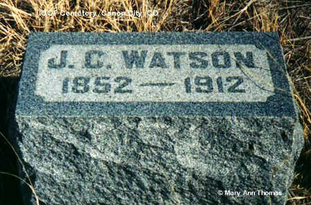 WATSON, J. C. - Fremont County, Colorado | J. C. WATSON - Colorado Gravestone Photos