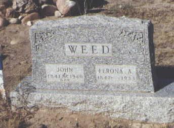 WEED, FERONA A. - Fremont County, Colorado   FERONA A. WEED - Colorado Gravestone Photos