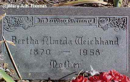 WEICHHAND, BERTHA ALMEDA - Fremont County, Colorado | BERTHA ALMEDA WEICHHAND - Colorado Gravestone Photos