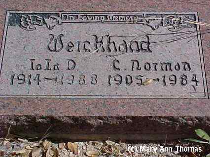 WEICHHAND, C. NORMAN - Fremont County, Colorado | C. NORMAN WEICHHAND - Colorado Gravestone Photos