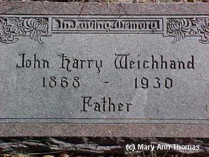 WEICHHAND, JOHN HARRY - Fremont County, Colorado | JOHN HARRY WEICHHAND - Colorado Gravestone Photos