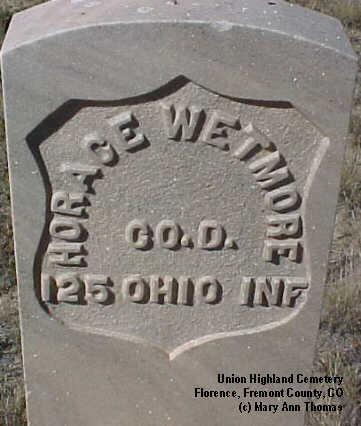 WETMORE, HORACE - Fremont County, Colorado   HORACE WETMORE - Colorado Gravestone Photos