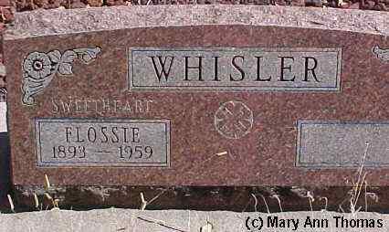 WHISLER, FLOSSIE - Fremont County, Colorado | FLOSSIE WHISLER - Colorado Gravestone Photos
