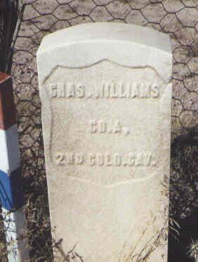 WILLIAMS, CHAS. - Fremont County, Colorado   CHAS. WILLIAMS - Colorado Gravestone Photos