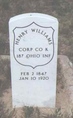 WILLIAMS, HENRY - Fremont County, Colorado | HENRY WILLIAMS - Colorado Gravestone Photos