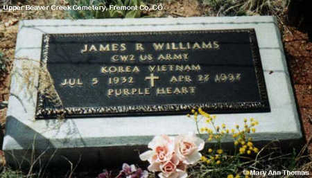 WILLIAMS, JAMES R. - Fremont County, Colorado | JAMES R. WILLIAMS - Colorado Gravestone Photos