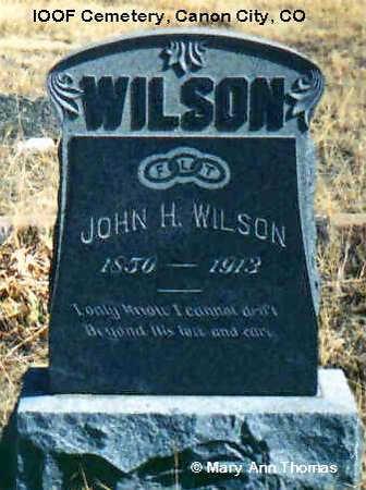 WILSON, JOHN H. - Fremont County, Colorado | JOHN H. WILSON - Colorado Gravestone Photos