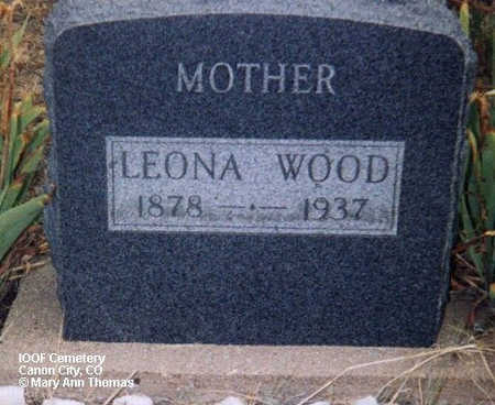 WOOD, LEONA - Fremont County, Colorado   LEONA WOOD - Colorado Gravestone Photos