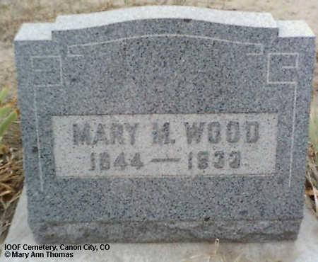 WOOD, MARY M. - Fremont County, Colorado   MARY M. WOOD - Colorado Gravestone Photos