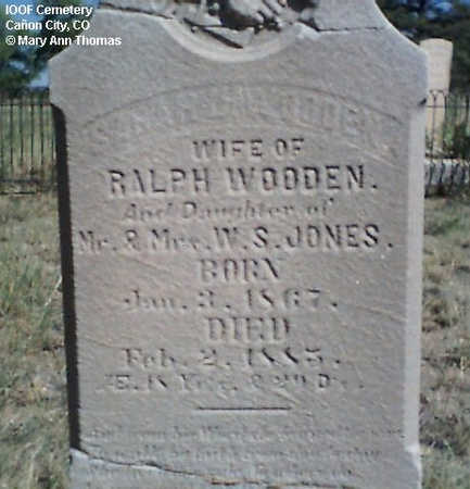 JONES WOODEN, SARAH - Fremont County, Colorado | SARAH JONES WOODEN - Colorado Gravestone Photos