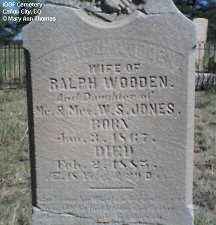 WOODEN, SARAH - Fremont County, Colorado | SARAH WOODEN - Colorado Gravestone Photos