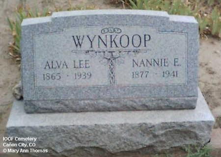 WYNKOOP, ALVA LEE - Fremont County, Colorado | ALVA LEE WYNKOOP - Colorado Gravestone Photos