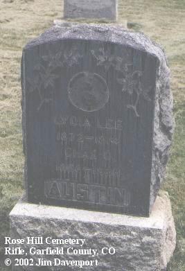 AUSTIN, CHAS. O. - Garfield County, Colorado   CHAS. O. AUSTIN - Colorado Gravestone Photos