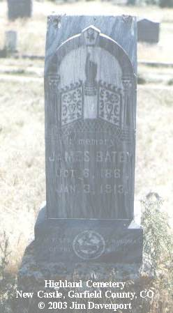 BATEY, JAMES - Garfield County, Colorado | JAMES BATEY - Colorado Gravestone Photos